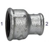 Dvovijačnik reducirni 240, notranji / notranji, Rp 3/4, Rp 3/8, črni, kaljeno lito železo [TFM 240-3438]