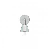 TSUW 20 LAENGE 2090 - Linearno vodilo, okroglo s podporo