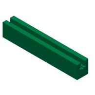 Vodilo verige BL3 (35x40) L=2000mm za verigo 12B-1 - Plastičen UHMWPE zelen profil