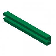 Vodilo verige COMBI 0 (20x26,4) L=2000mm za verigo 06B-1 - Kombinirani profil kovina/UHMWPE zelen
