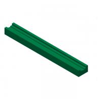 Vodilo verige U4 (25x35) L=2000mm za verigo 16B-1 - Plastičen UHMWPE zelen profil