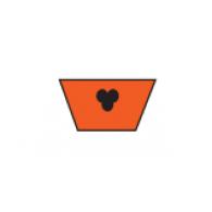 VOS Z/10mm - V jermenski profil PU, oranžen FDA, 83ShA