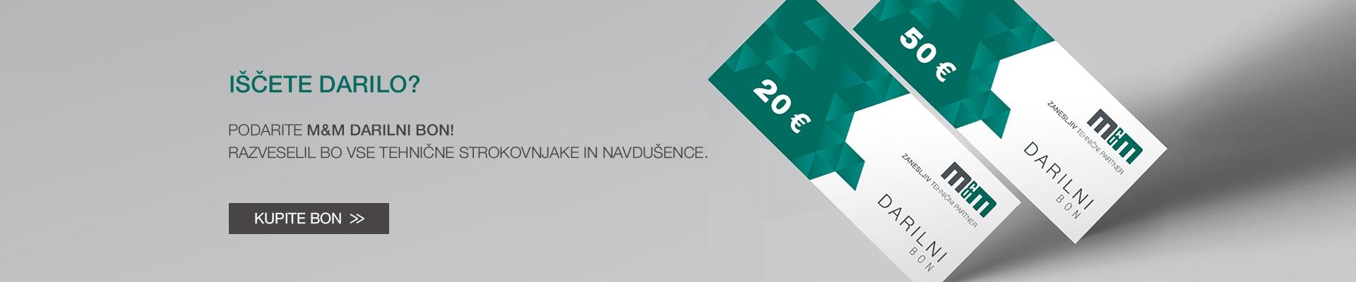 Podarite M&M darilni bon v vrednosti 20€ ali 50€